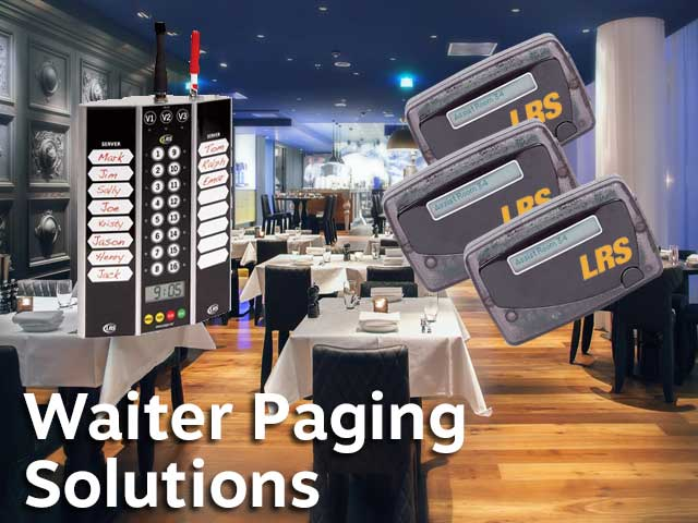 Restaurants Waiter Paging Systems And Solutions Lrs Uk