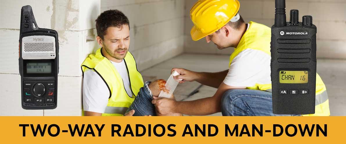 H Amp S Wireless Two Way Radio Communication Man Down Lone Worker
